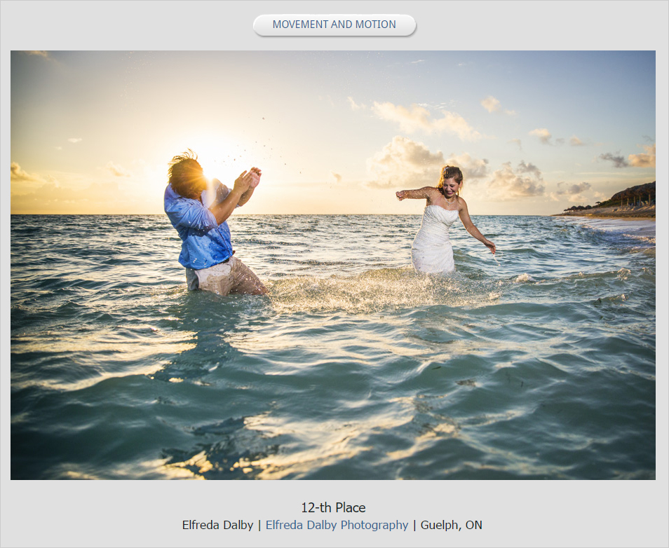 We Were Over The Moon Happy To Find Out Elfreda Won 7 Awards For Her Photos In Professional Wedding Photographers Of Canada Summer 2016 Photo Contest